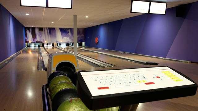 1 uur gratis bowlen als je 2+ kamers boekt