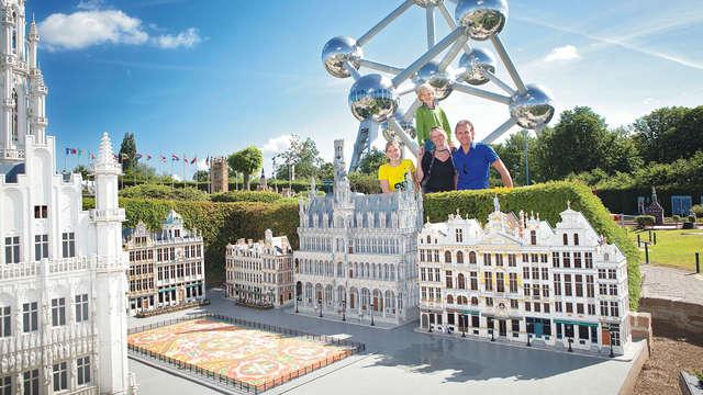 Voyagez en famille à Mini-Europe à bord du Train Hostel Bruxelles
