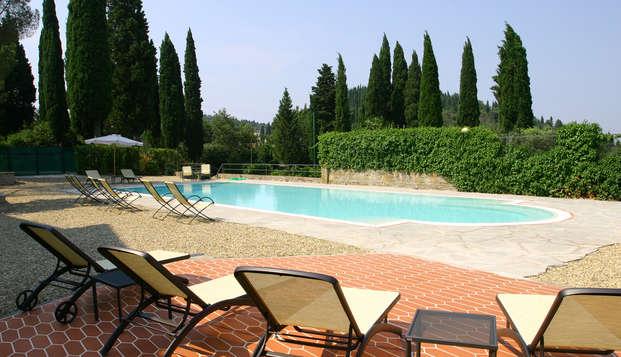 Romantiek in Toscane, in superior kamer en welkomstgeschenkje