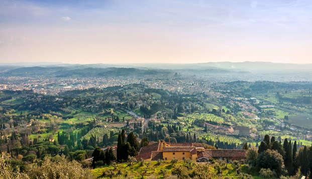 Nabij Florence tussen de groene heuvels van Toscane
