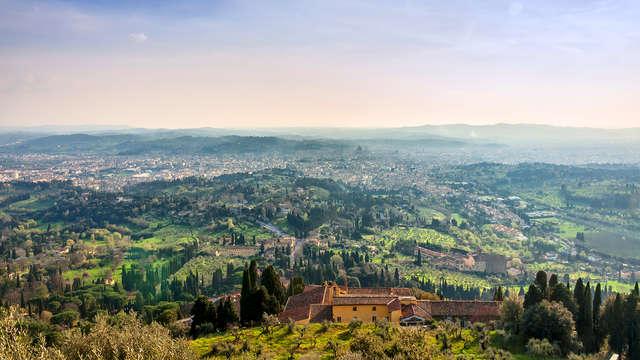 Entre las colinas toscanas cerca de Florencia
