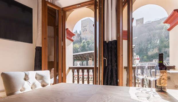 Oro del Darro Suites - livingroom terras