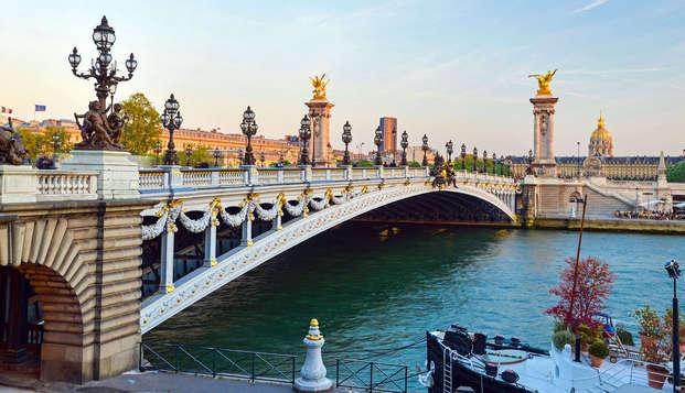 Uitje vlak bij Parijs inclusief rondvaart over de Seine
