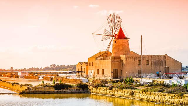 Mar, molinos y salinas: descubre Marsala desde una elegante residencia de 5 estrellas