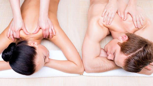 Bienestar con masaje de espalda en el corazón de Berry
