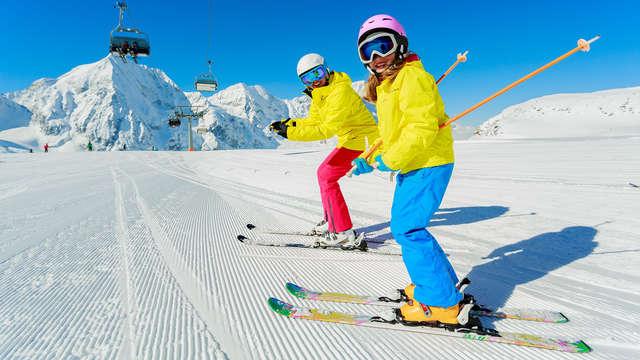 Remise sur les forfaits de ski pour 2 adultes