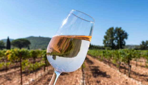 Oferta especial con jacuzzi privado y una cata de vinos con degustación