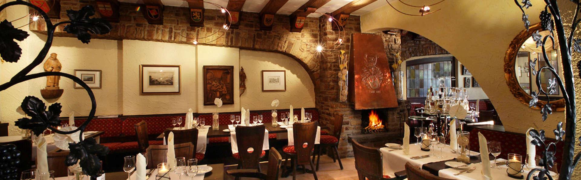 Gastronomía regional y vinos locales en el valle del Rhin
