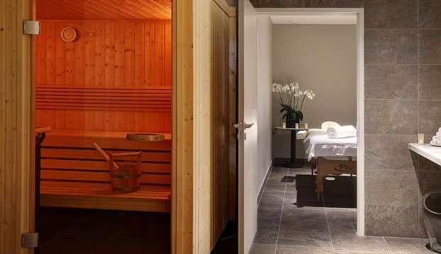 Escapada relax en habitación confort con vistas al bosque cerca de París