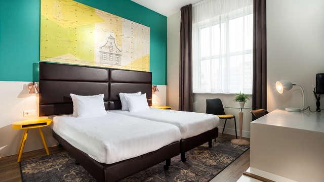 1 overnachting in een twin kamer comfort met stadszicht voor 2 volwassenen