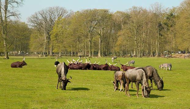 Geniet van een verblijf met toegang tot de Thoiry dierentuin in de buurt van Versailles