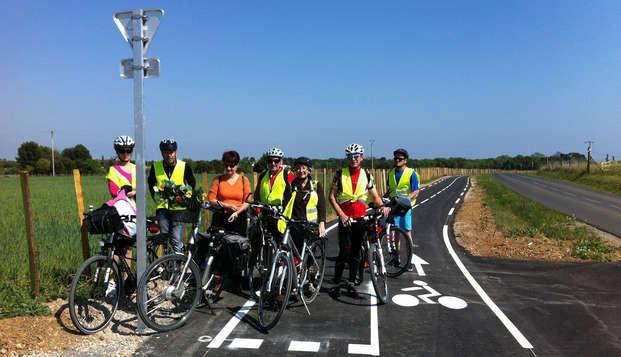 Disfrute en familia en el centro de Gard con ruta guiada en bicicleta por Nimes
