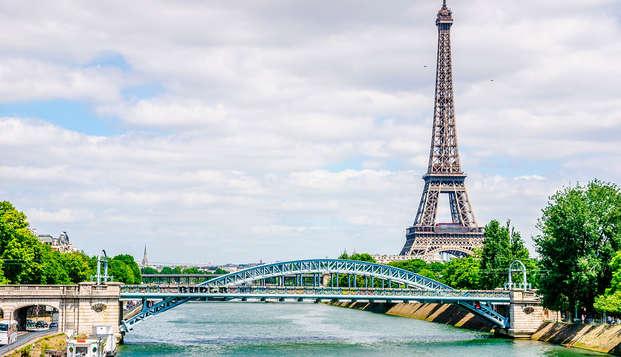 Estancia cerca de la Torre Eiffel y cena-crucero por el Sena