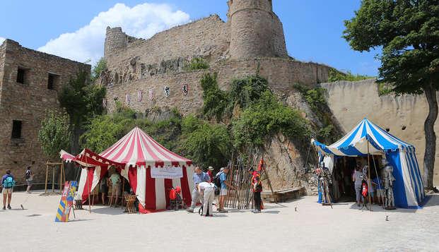 Weekend in het hartje van de Elzas met kaartjes voor het middeleeuwse kasteel van Hohlandsbourg
