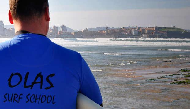 Oferta Top: Escapada en un fabuloso hotel 4* y Clases de Surf en la playa de Gijón