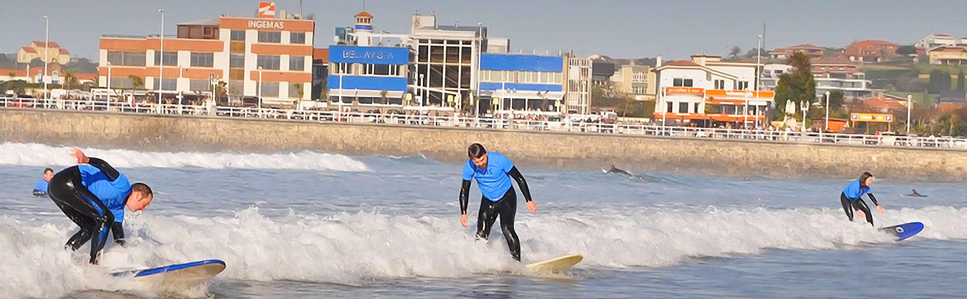Asturias aventura: Escapada con Clase de Surf y visita a Sidrería en Villaviciosa
