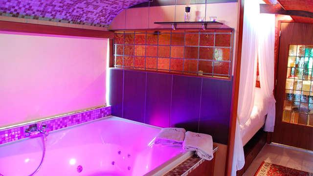 accès au bain bouillonnant privé