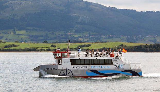 Descubre Santander y sus playas con un crucero en barco por la bahía de la ciudad