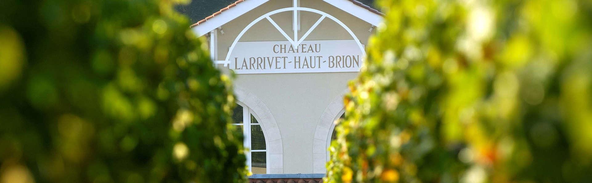 Week-end avec visite du Château Larrivet Haut-Brion près de Bordeaux