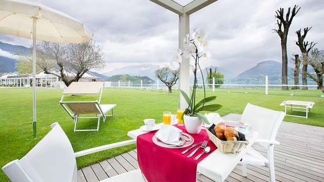 Media pensión a orillas del Lago de Como