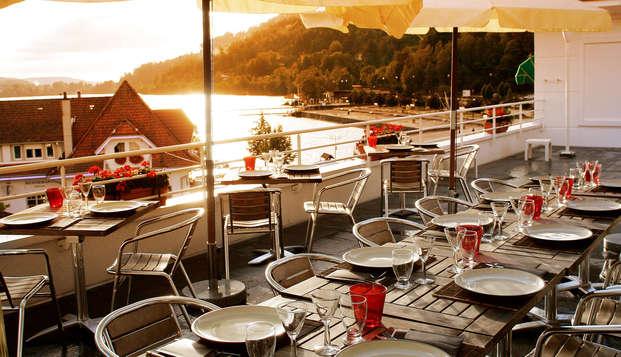 Savoureuse détente et dîner sur les rives du lac de Gérardmer