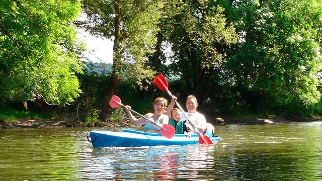 Descendez l´Ourthe en Kayak ou partez en VTT et séjournez dans l'annexe d'un magnifique chateau