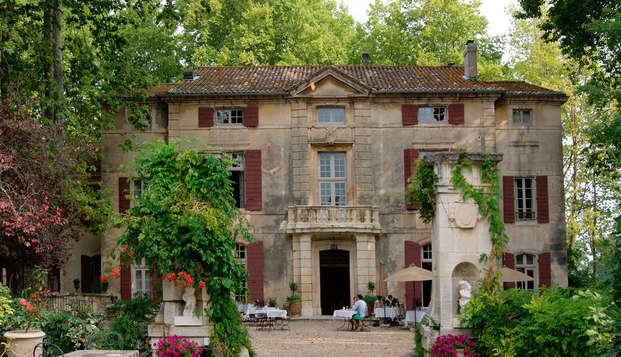 Romanticismo y champán en un castillo