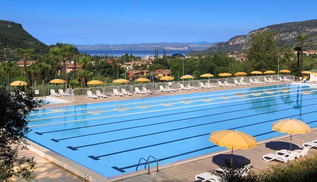 Descansa junto al lago de Garda, con alojamiento gratis para 2 niños de hasta 18 años