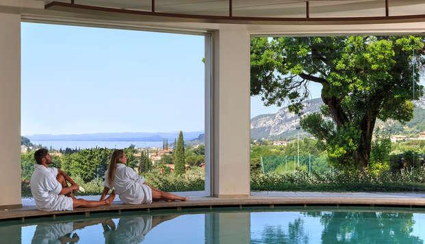 Descubre el lago de Garda, con acceso al spa y cena