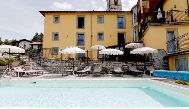 Tra il lago di Como e il lago di Lugano in mezza pensione