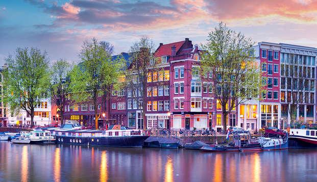 Arte y cultura en el corazón de Amsterdam con crucero nocturno por los canales