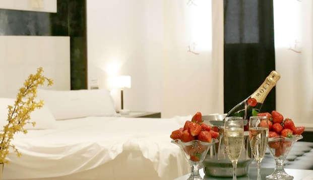 Cena y bañera hidromasaje privada en Alcalá de Henares (sólo adultos)