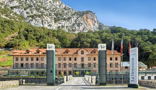 Escapada con Cena y Spa en en un maravilloso balneario en el valle de Peñarrubia