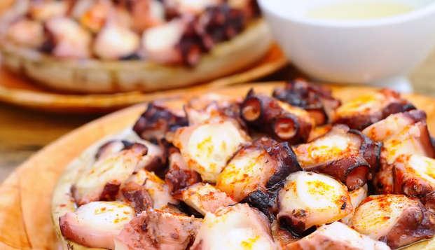 Escapada con spa y cena típica gallega con vistas a la playa de O Grove