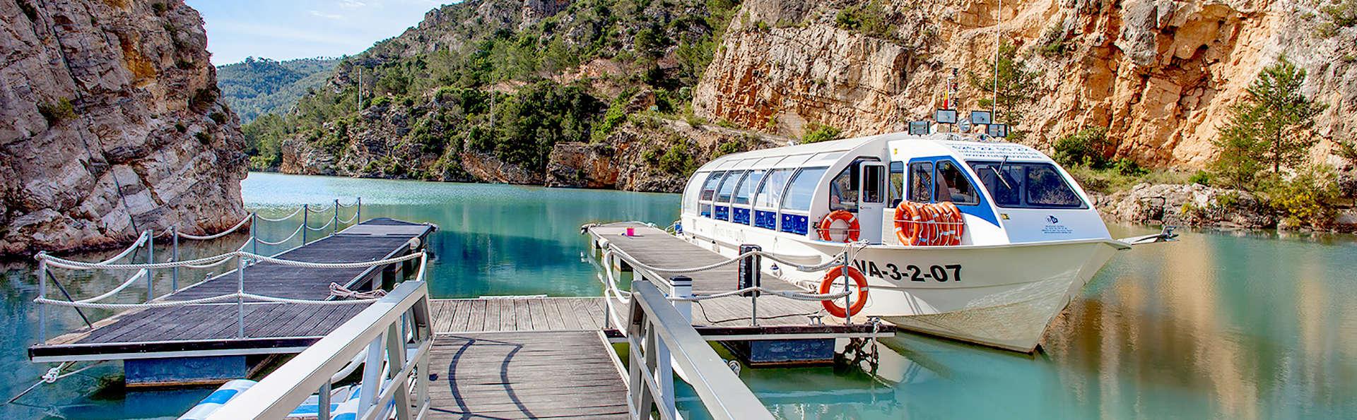 Week-end détente avec croisière sur le fleuve Júcar et accès au circuit thermal à Cofrentes