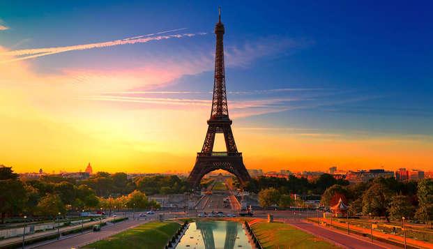 Romanticismo en un hotel de lujo a las puertas de París