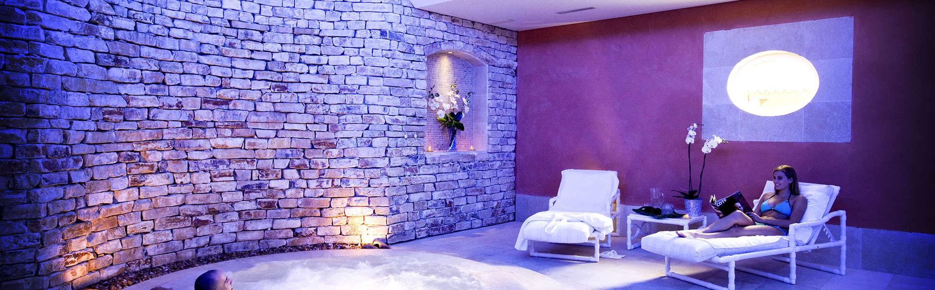 Détente absolue en chambre Deluxe avec bain à remous près d'Avignon