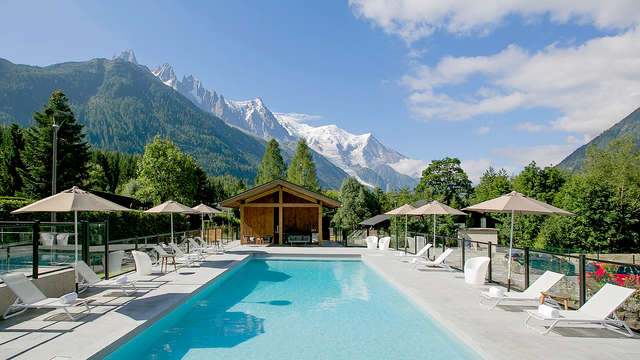 Relax e spa in camera con balcone, a Chamonix