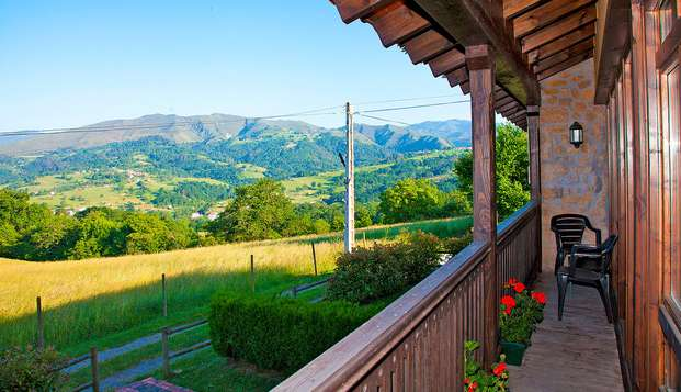 Romanticismo rural y hogareño con vistas a la naturaleza y cesta de desayuno (desde 2 noches)