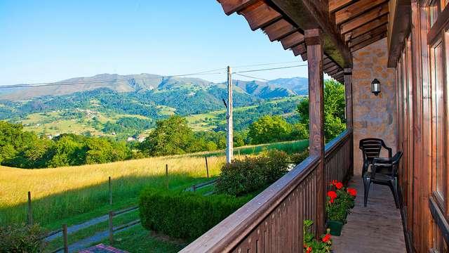 Romanticismo rural y hogareño con vistas a la naturaleza y con chimenea privada (desde 2 noches)