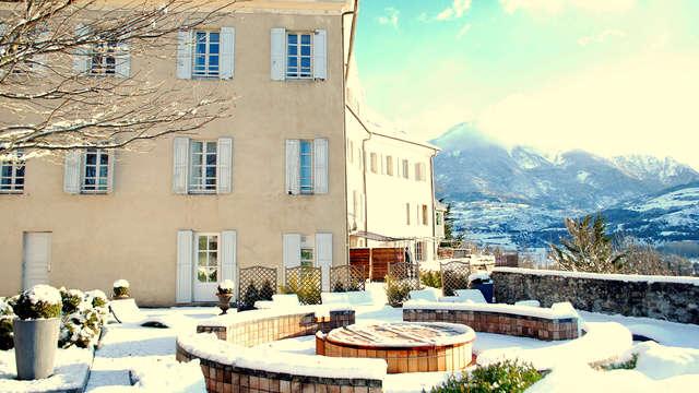 Disfruta del spa y de unas magníficas vistas panorámicas sobre los Altos Alpes