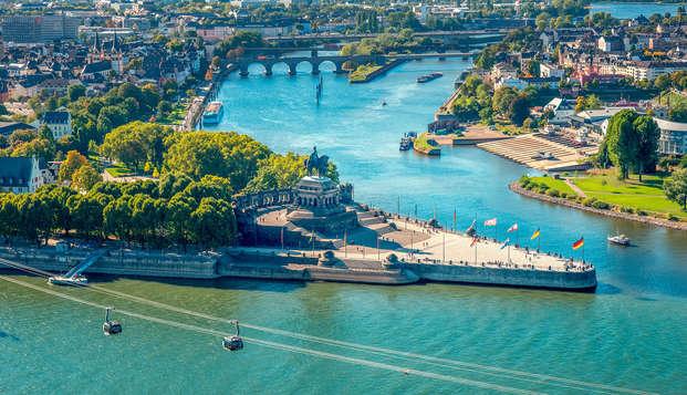Dineren, lunchen en wandelen in de mooie omgeving van Koblenz (vanaf 2 nachten)