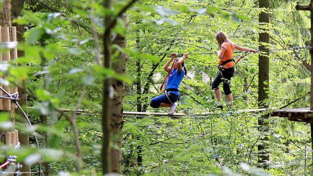 Sportief weekend met toegang tot het klimpark Parc Accrobranche