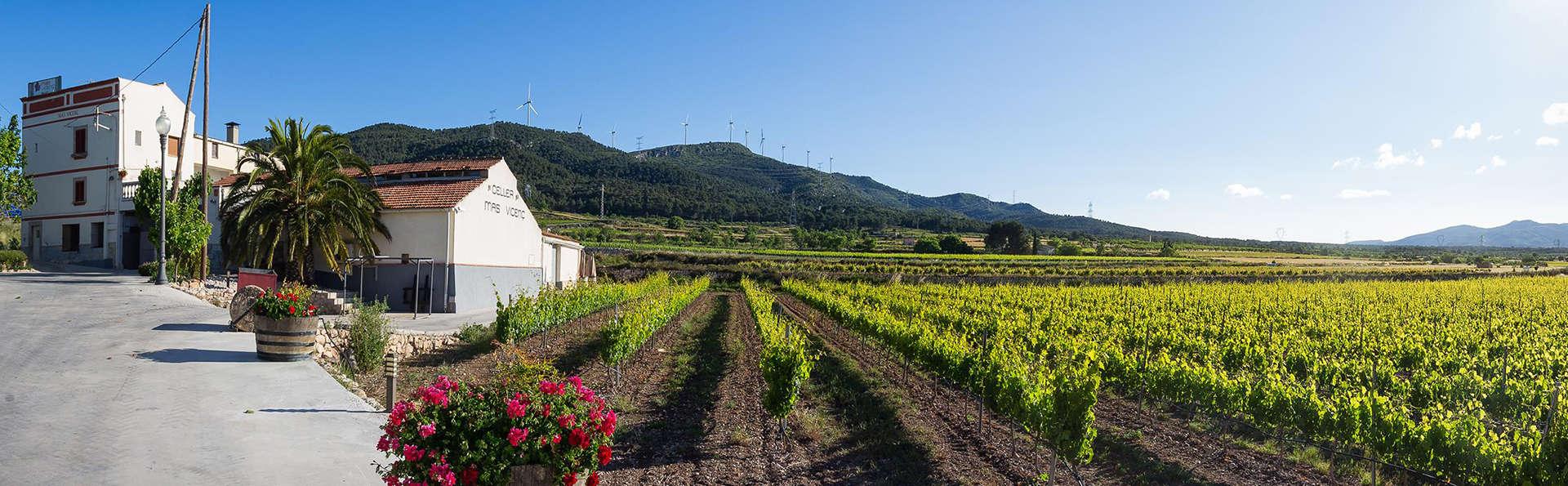 Nature et visite d'un domaine viticole en Catalogne