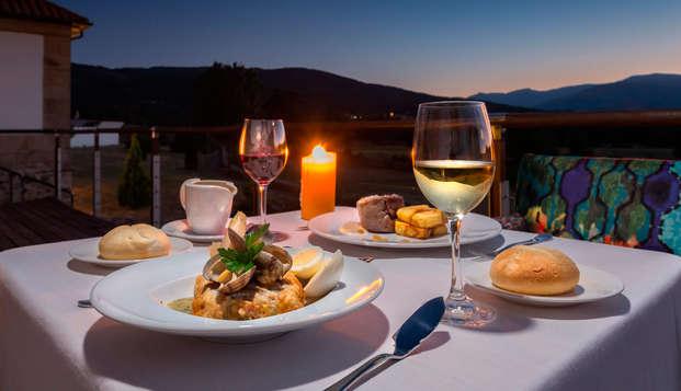 Escapada Romántica en Gredos: cena y spa en Dúplex Junior Suite con chimenea