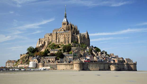 Jeu de piste en famille au Mont-Saint-Michel et visite de l'Abbaye
