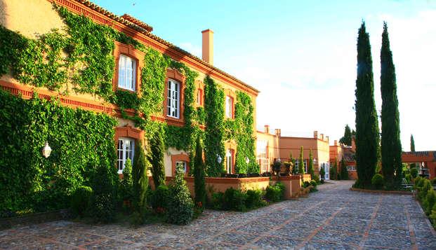 Lujo total en hotel 5* con Spa diario y visita safari en una hermosa finca cerca de Madrid