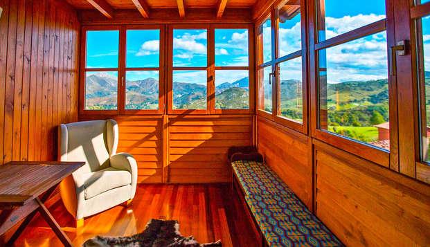 Escapada Romantica en el corazón de los Picos de Europa con cena asturiana y ambiente romantico
