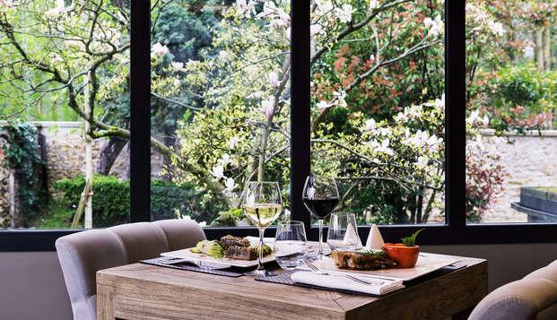 Tranquilidad en el corazón del bosque de Meudon y cena de 3 platos