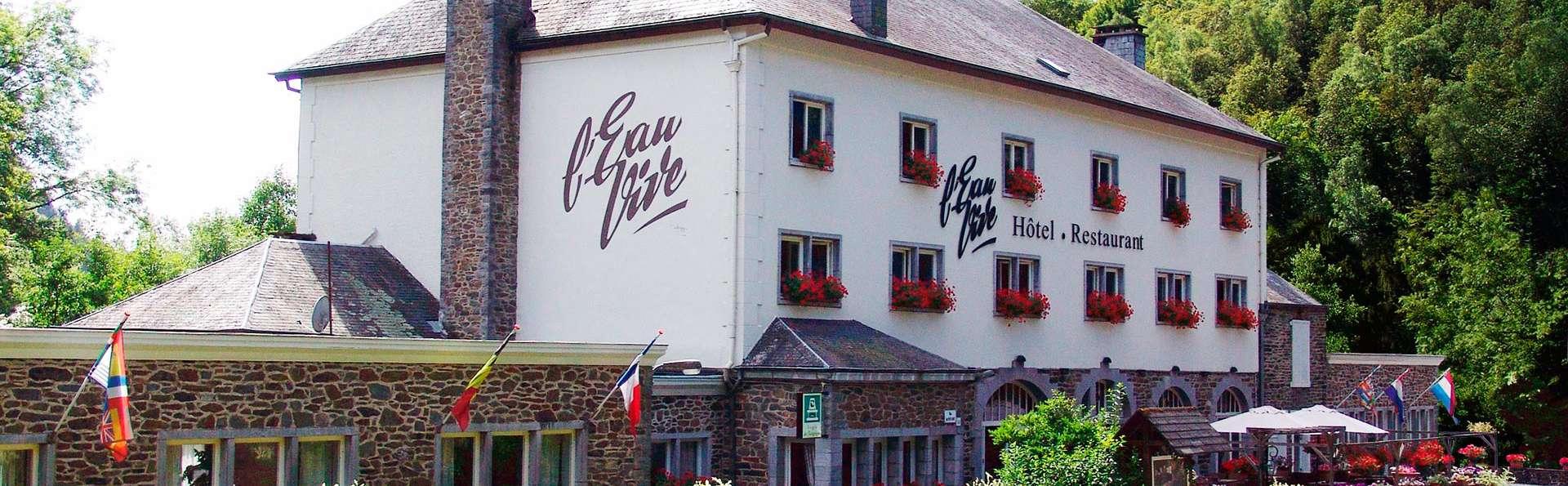 Bulles et dîner romantique 4 plats au cœur des Ardennes (à partir de 2 nuits)